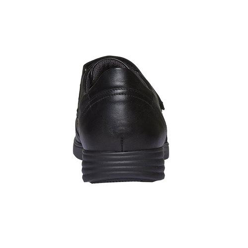 Sneakers in pelle con chiusura a velcro air-system, nero, 814-6134 - 17