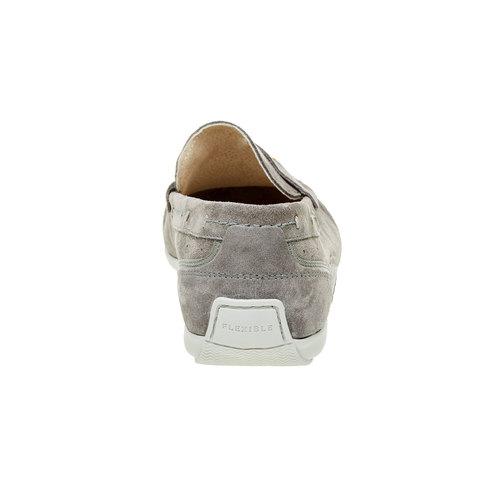 Mocassini da uomo in pelle flexible, grigio, 853-2190 - 17