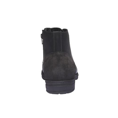 Scarpe in pelle informali bata, nero, 894-6555 - 17