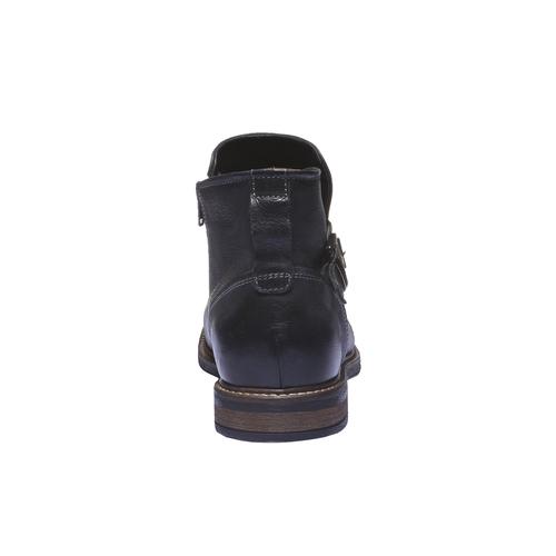 Scarpe di pelle alla caviglia. bata, nero, 894-6107 - 17