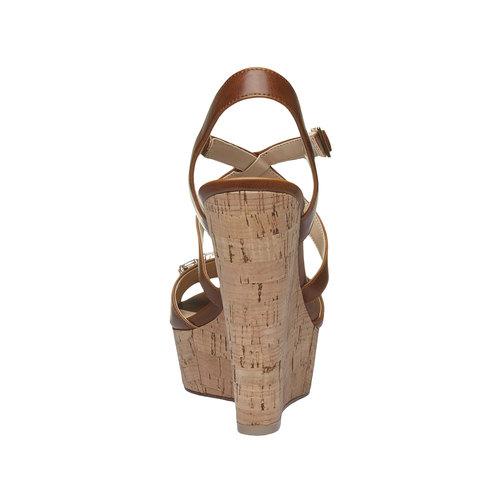 Sandali da donna con plateau bata, marrone, 761-4545 - 17