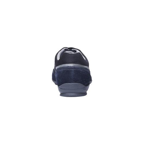 Sneakers informali di pelle bata, viola, 823-9987 - 17