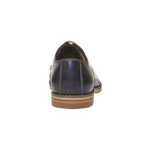 Scarpe basse di pelle in stile Derby bata, viola, 824-9745 - 17