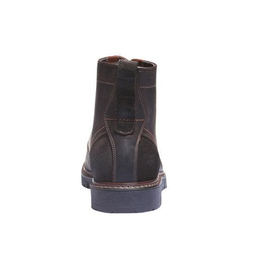 Scarpe di pelle alla caviglia bata, marrone, 894-4360 - 17
