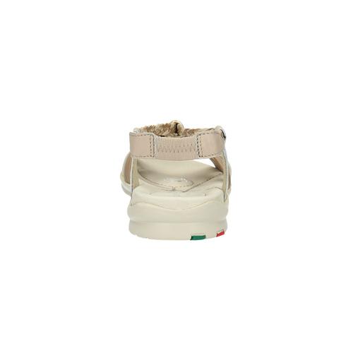 Sandali in pelle con fasce intrecciate bata-touch-me, giallo, 564-8353 - 17