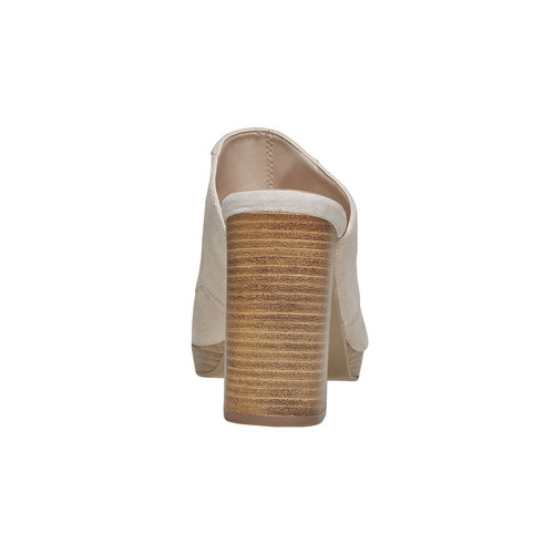 Slip-on da donna in pelle bata, beige, 763-8516 - 17