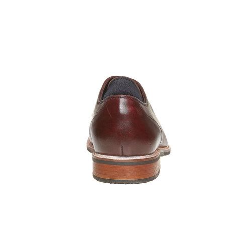 Scarpe basse di pelle in stile Derby bata, rosso, 824-5280 - 17