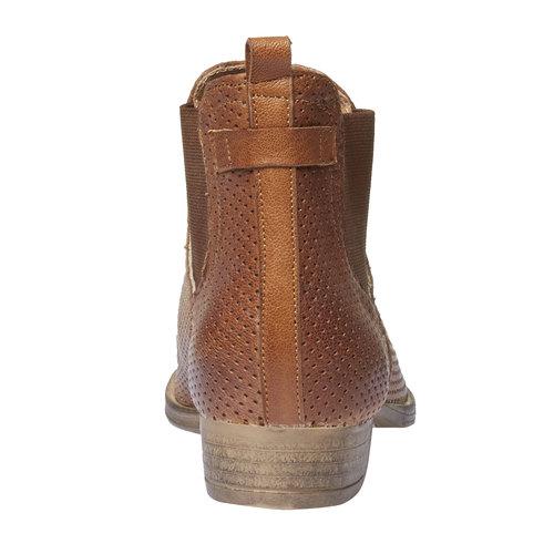 Stivaletti di pelle alla caviglia in stile Chelsea bata, marrone, 594-3546 - 17