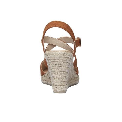 Sandali con zeppa bata, marrone, 769-3544 - 17