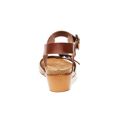 Sandali da donna con strisce weinbrenner, marrone, 664-4193 - 17