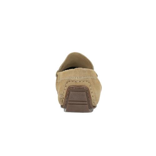 Mocassini da uomo in pelle bata, beige, 853-8180 - 17