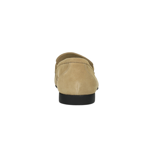 Mocassini da uomo in pelle flexible, beige, 853-8186 - 17