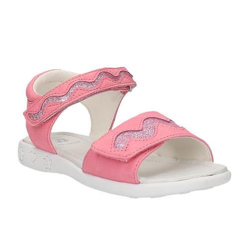 Sandali rosa con chiusura a velcro mini-b, rosa, 261-5159 - 13