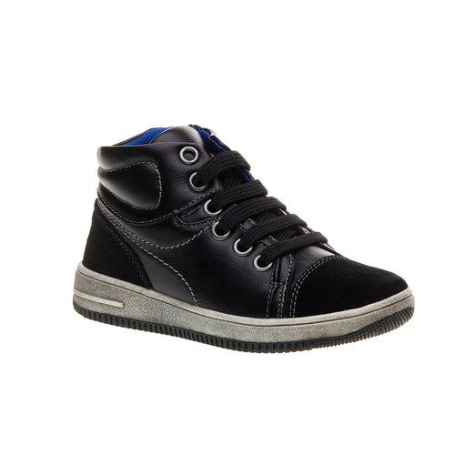 Sneakers da bambino alla caviglia mini-b, nero, 211-6133 - 13