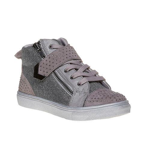 Sneakers da bambina con strass mini-b, grigio, 229-2173 - 13