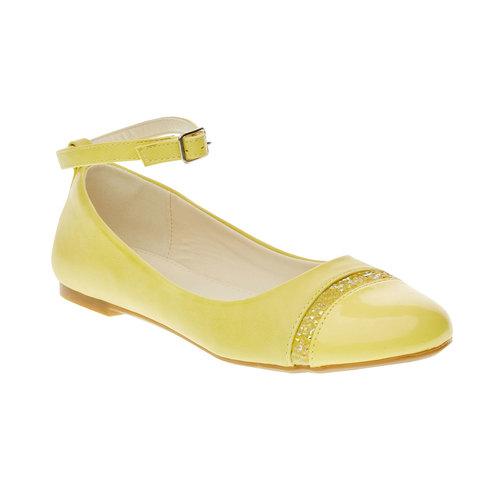 Ballerine gialle con cinturino mini-b, giallo, 321-8181 - 13