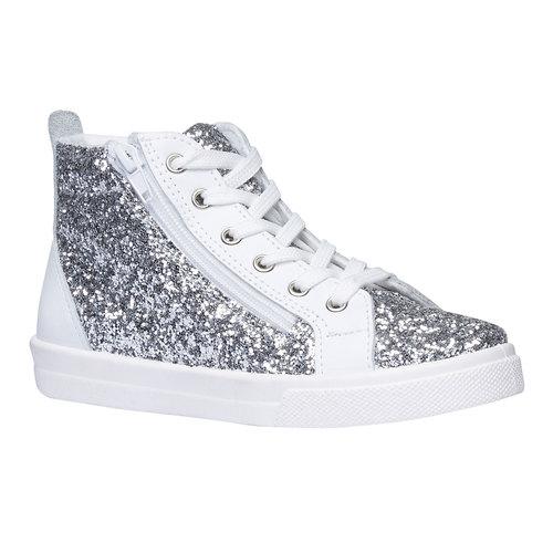 Sneakers alla caviglia con glitter north-star-junior, bianco, 329-1206 - 13