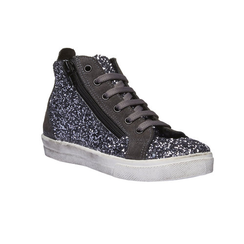 Sneakers alla caviglia con glitter north-star-junior, grigio, 329-2198 - 13