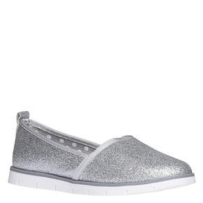 Slip-on da bambina con glitter mini-b, bianco, 329-1163 - 13