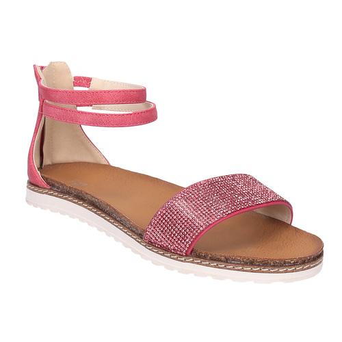 Sandali rosa da bambina mini-b, rosa, 361-5161 - 13