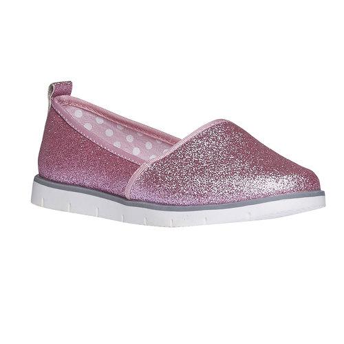 Slip-on da bambina con glitter mini-b, rosso, 329-5163 - 13
