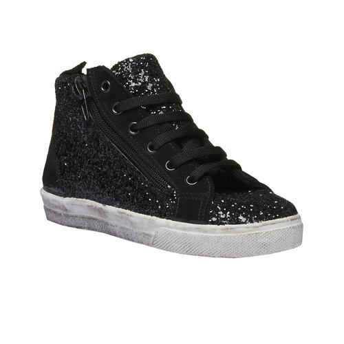 Sneakers alla caviglia con glitter north-star-junior, nero, 329-6198 - 13