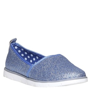 Slip-on da ragazza con glitter mini-b, viola, 329-9163 - 13