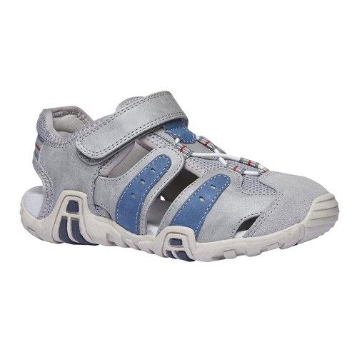 Sandali da bambino con punta chiusa mini-b, grigio, 361-2173 - 13