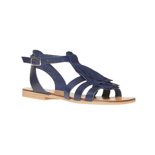Sandali da bambina con cinturino in pelle alla caviglia mini-b, viola, 364-9190 - 13