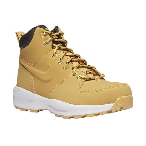 Scarpe di pelle alla caviglia nike, giallo, 403-8435 - 13