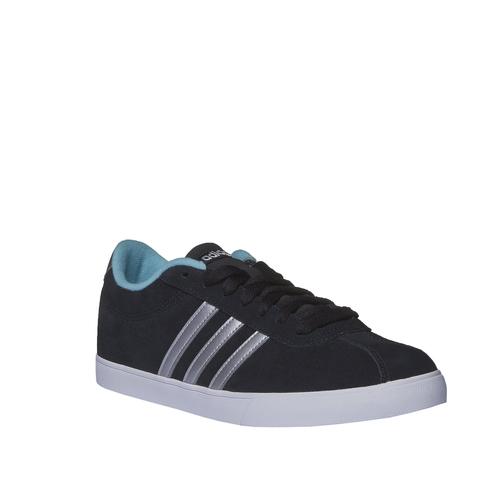 Sneakers informali in pelle scamosciata adidas, nero, 503-6685 - 13