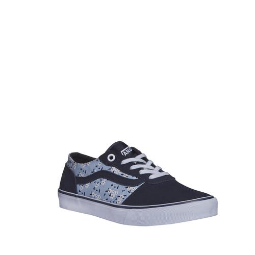 Sneakers da donna con stampa floreale vans, blu, 503-9700 - 13