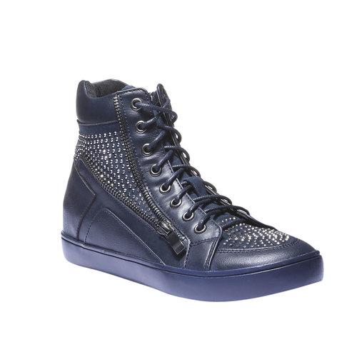Sneakers alla caviglia con strass north-star, viola, 541-9118 - 13