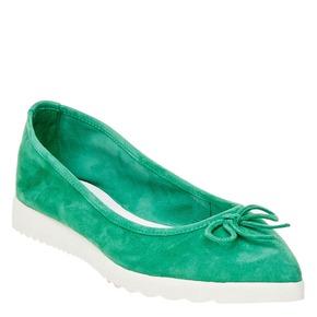 Ballerine da donna con suola appariscente bata, verde, 529-7494 - 13