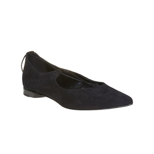 Ballerine nere con lacci bata, nero, 523-6211 - 13