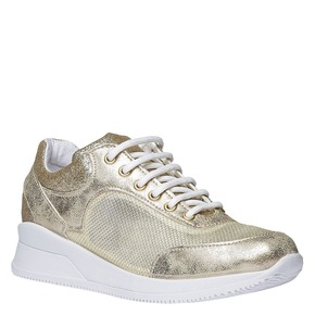 Sneakers con riflessi dorati north-star, giallo, 549-8232 - 13