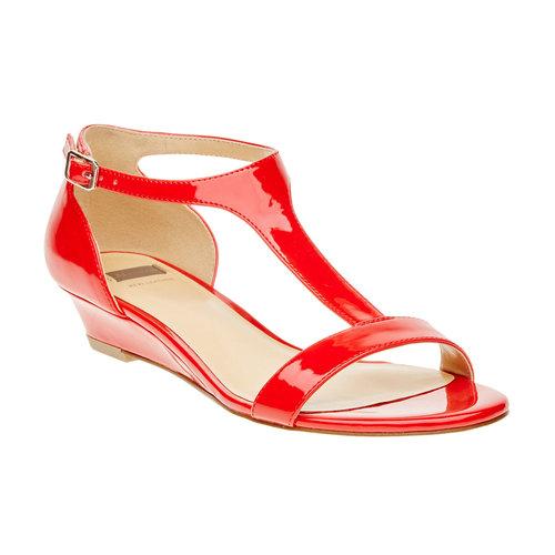 Sandali rossi da donna con cinturino sul collo del piede bata, rosso, 561-5407 - 13
