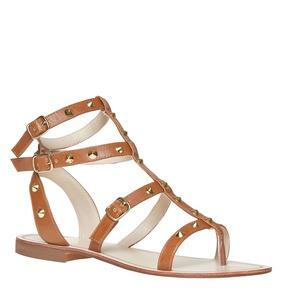 Scarpe da donna con borchie decorative bata, marrone, 561-3296 - 13