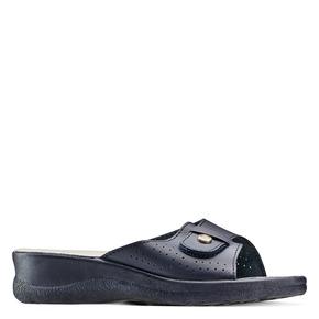 Slip-on da donna in pelle bata-comfit, blu, 574-9250 - 13