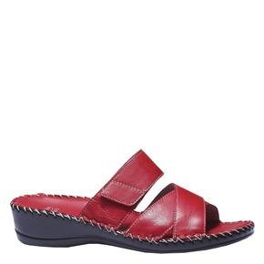 Sandali in pelle bata-comfit, rosso, 574-5175 - 13