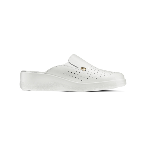 Slip-on in pelle da donna bata-comfit, bianco, 574-1805 - 13