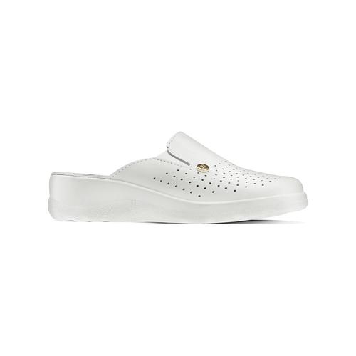Scarpe a pantofola in pelle traforata bata-comfit, bianco, 574-1805 - 13