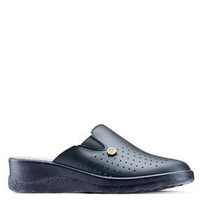 Scarpe a pantofola in pelle traforata bata-comfit, blu, viola, 574-9805 - 13