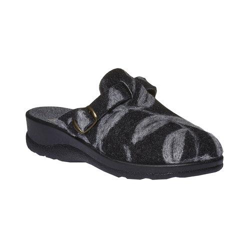 Pantofole da donna con punta chiusa bata, nero, 579-6221 - 13