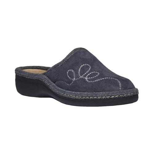 Pantofole da donna bata, grigio, 579-2234 - 13