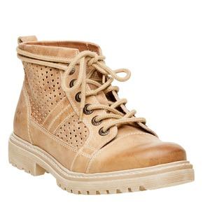 Scarpe di pelle alla caviglia weinbrenner, marrone, 594-4138 - 13