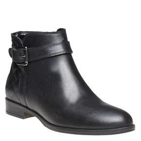 Scarpe di pelle alla caviglia bata, nero, 594-6167 - 13