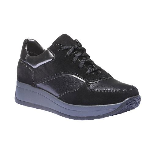 Sneakers in pelle bata, nero, 624-6126 - 13