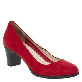 Décolleté rosse di pelle flexible, rosso, 623-5393 - 13