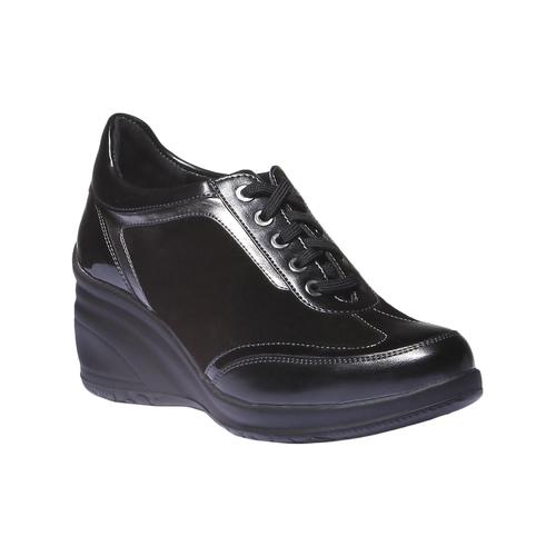 Sneakers con zeppa bata, nero, 621-6120 - 13